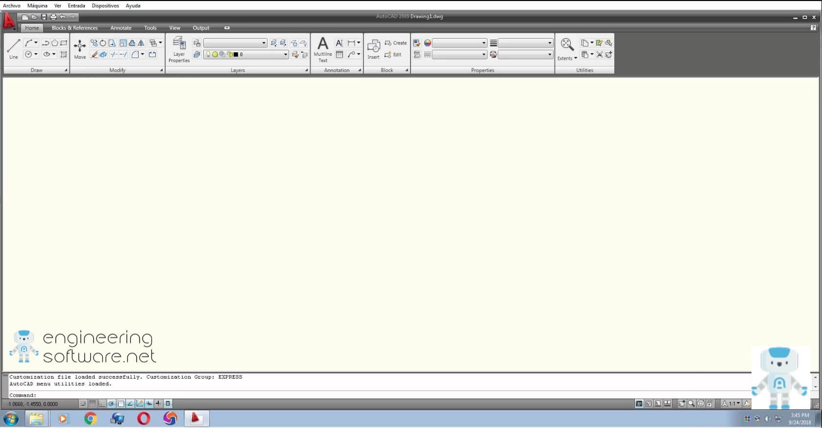 Autocad 2009 screenshot