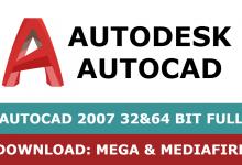Download Autocad 2007 32&64 bit full mega mediafire free