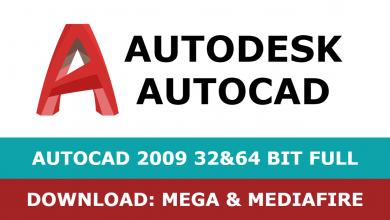 Download Autocad 2009 32&64 bit full mega mediafire free