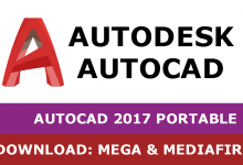 Download Autocad 2017 PORTABLE 32&64 bit full mega mediafire free
