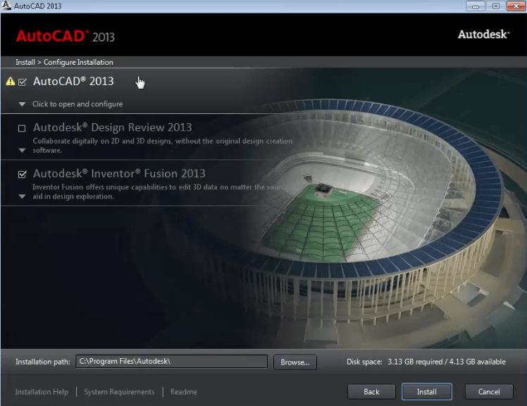 Screenshot AUTOCAD 2013